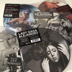 Lady Gaga superb collection of five original 2008/2010 picture disc singles - all long time deleted.