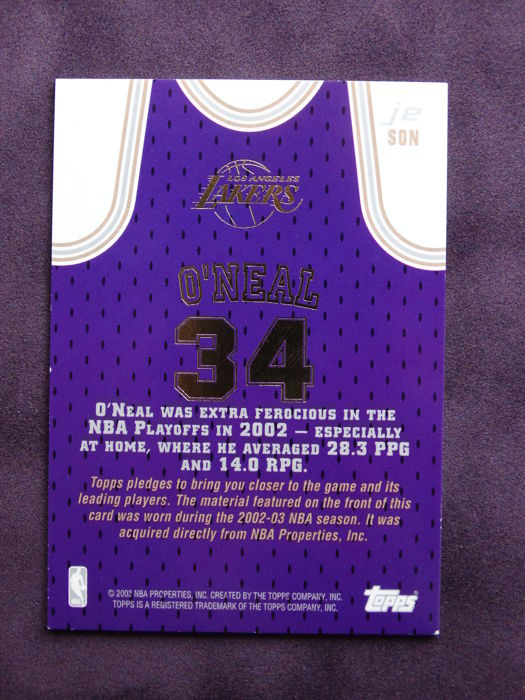 0a2307f5c Shaquille O Neal original signed photo + Limited Edition Game Used piece of  clothing - Premium Framed + Mounted Memories certified