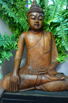 Large Buddha made of wood – Indonesia – early 21st century
