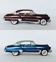 Franklin Mint - Scale 1/24 - Cadillac Coupe de Ville 1949 - Blue and Brown