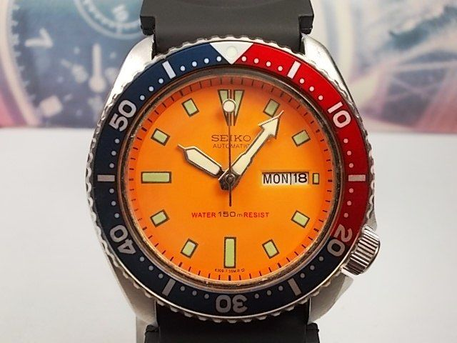 Seiko Scuba Divers, 'Pepsi' Bezel Gents Automatic Wrist Watch - model no. 6309-729A - c. November 1987