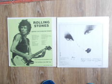 The Rolling Stones Lot Of 2  Lp : Live The Hague Netherlands May 29+30 , 1976 , Zuiderpark , And Lp Double Lp Live In Philadelphia September 26 , 1981 ,Unofficial Release