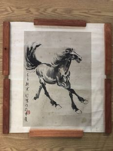 Ink painting horse made after Xu beihong - China - late 20th century