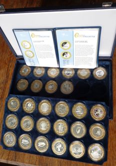 Europe - 1½ Euro through 12 Euro 2006/2008 (28 pieces) in case – silver