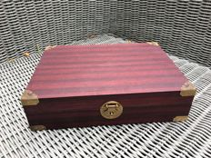 Very luxurious, elegant, solid wooden watch box for 15 watches