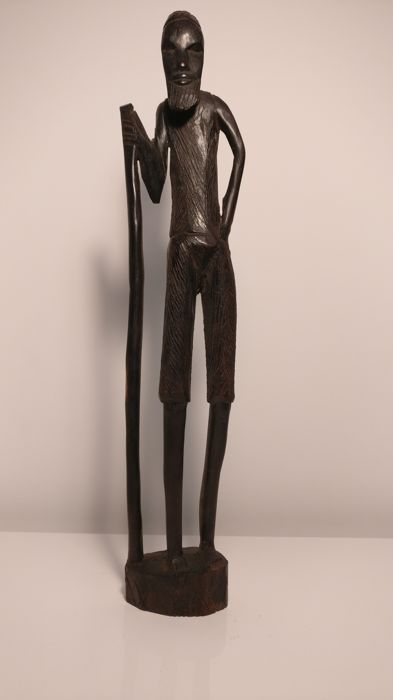 Black wooden sculpture, Africa