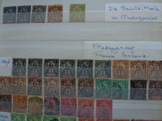Madagascar 1896/2003 – Collection in stock book and album
