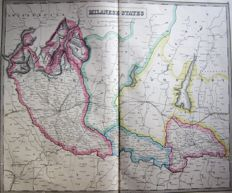 Noord-Italië, Lombardije, Milaan; George Philip & Son - Milanese States - 1853