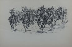 Job (1858–1931) - 'A Cavalry Charge' um 1900.