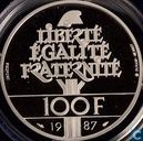 "Frankrijk 100 francs 1987 (PROOF - Piedfort) ""250th anniversary of the Death of La Fayette"""