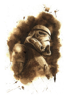 Juapi - Original Coffee Drawing - Stormtrooper - Star Wars
