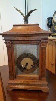 Large oak table clock - Gustaf Becker – around 1900