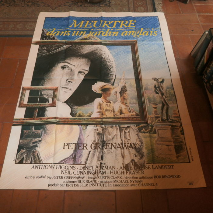 Anonymous - 'Meurtre dans un jardin Anglais' by Greenaway - printed in 1982 - movie poster