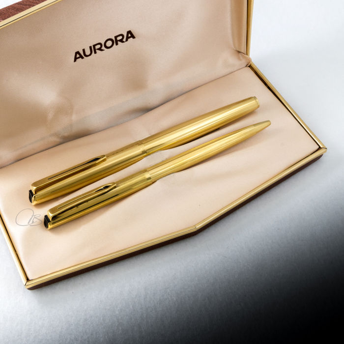 Aurora 98 Gold-plated Ballpoint and Fountain Pen