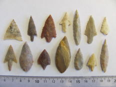 14 Neolithic arrowheads - 22/44 mm (14)