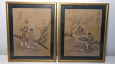 2 framed paintings - China - late 19th/early 20th century