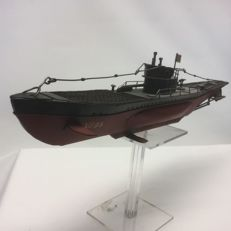German U-Boat - U-995 - home-built - Length approx. 48 cm. 1950 metal version
