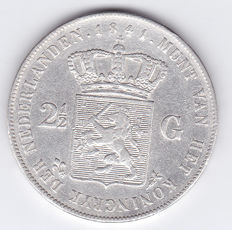 The Netherlands – 2½ guilder coin 1841 Willem II – silver