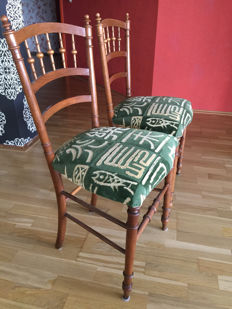 A pair of Louis Philippe style dining chairs, France, early 20th century