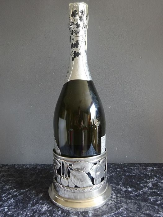 Beautiful crafted silver plated wine bottle holder/bottle container - H.A. Jürst & Co-Germany - ca. 1920
