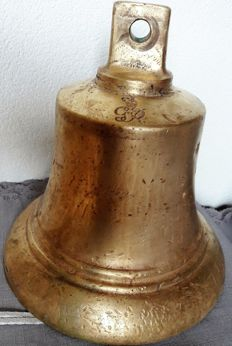 Antique heavy copper/brass bell from a monastery