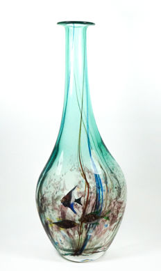 Silvano Signoretto - bottle with sommerso aquarium (48 cm)