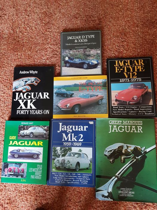 7 Jaguar car books