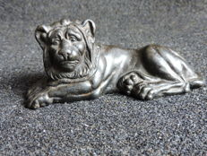 Bronze alloy reclining lion
