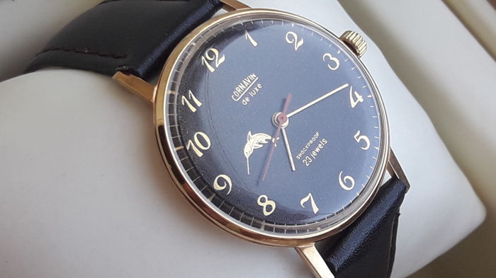 "CORNAVIN ''Poljot De Luxe "" ultra-slim"" Men's watch. Export series. Vintage Watch Soviet USSR 1961-1970's . AU 12.5."