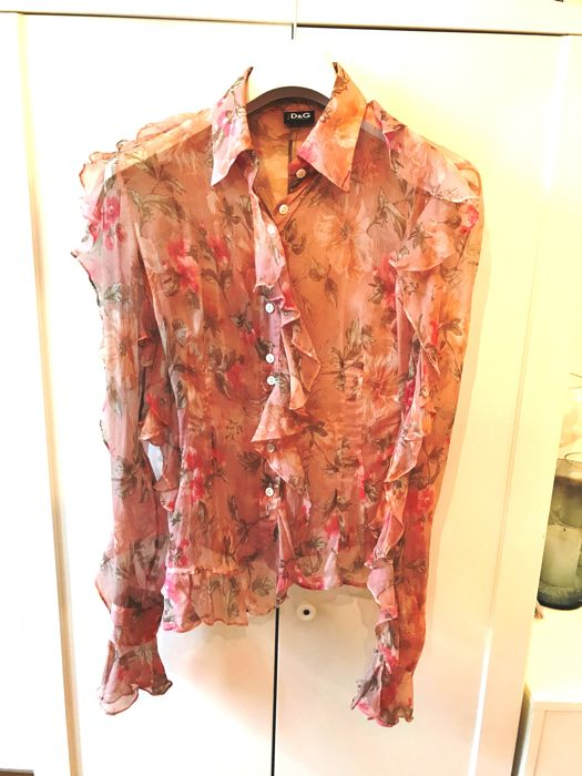 D&G – Frilly silk shirt
