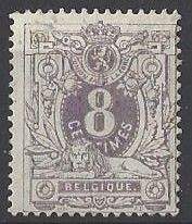 Belgium 1876 - Lying lion with coat of arms 8c purple - OCP 29a