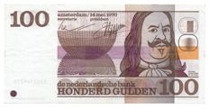 "The Netherlands - 100 guilder 1970 ""Michiel Adriaenszoon De Ruyter"" - mevius 122-1"