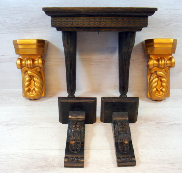 Five old wall brackets, Netherlands, 1st and 2nd half of 20th century