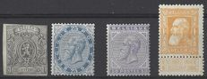 Belgium – Small selection of Leopold II stamps – OBP 22, 40, 41 and 79