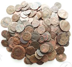 Roman Empire - lot of 166 pieces AE coins, 3th - 4th century AD