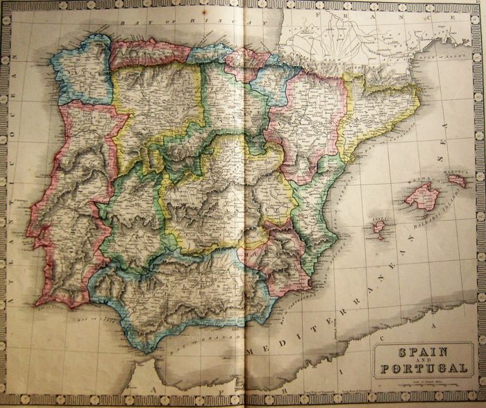 George Philip & Son - Spain and Portugal - 1853