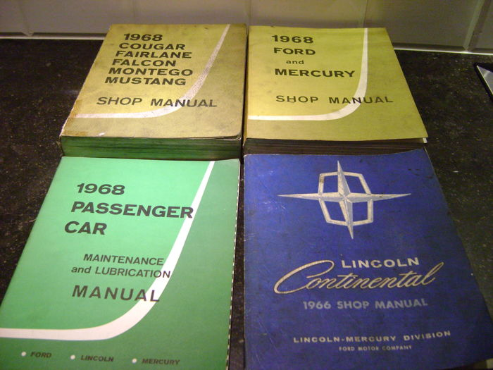 Ford shop manuals 1966 1968