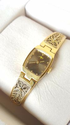 Luch - Soviet  Ladies  Elegant Gold PLated  Wristwatch -1980's in good condition