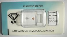Natural Fancy Pink Diamond 0.07 ct  with IGI cert *** no minimum price***