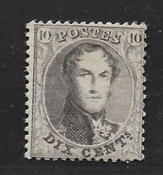Belgium 1863 – King Leopold I – OBP 14Bb Perforation 14½