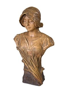 Goldscheider - A terracotta bust 'Ruth' - by E. Simon (1873-1932)