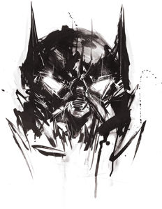 Original Acrylic Painting - Batman By Urban Street Artist ANTISTATIK