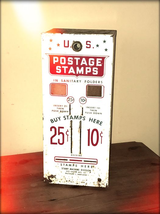 Two-slot US post office stamp vending machine 1960 - Catawiki