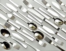 WMF - 55-piece cutlery (dinner & fish) & serving cutlery set - design by Atelier MAYER - Bauhaus / Art Deco