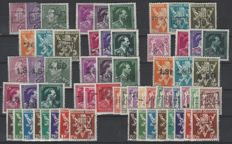 "Belgium 1946 – Complete series ""10%"" overprints – OBP numbers 724A to 724vv – a few have been inspected"