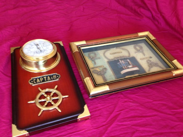 Barometer and handcraft marine artwork