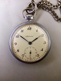 Molnija pocket watch 18 Jewels