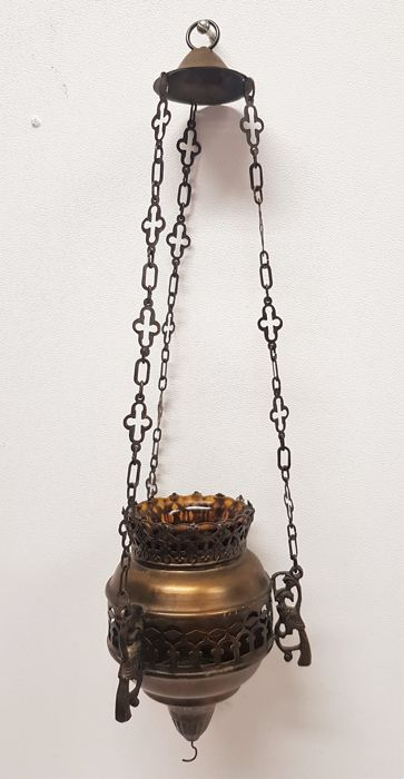 Copper sanctuary lamp - the Netherlands, 20th century
