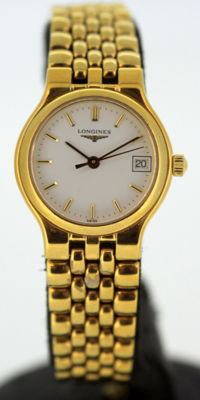 La Grande Classique de LONGINES Ladies Dress Watch, Gold Plated Quartz, Circa.1990