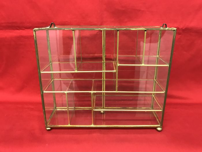 Brass display cabinet for exhibition, 1970s